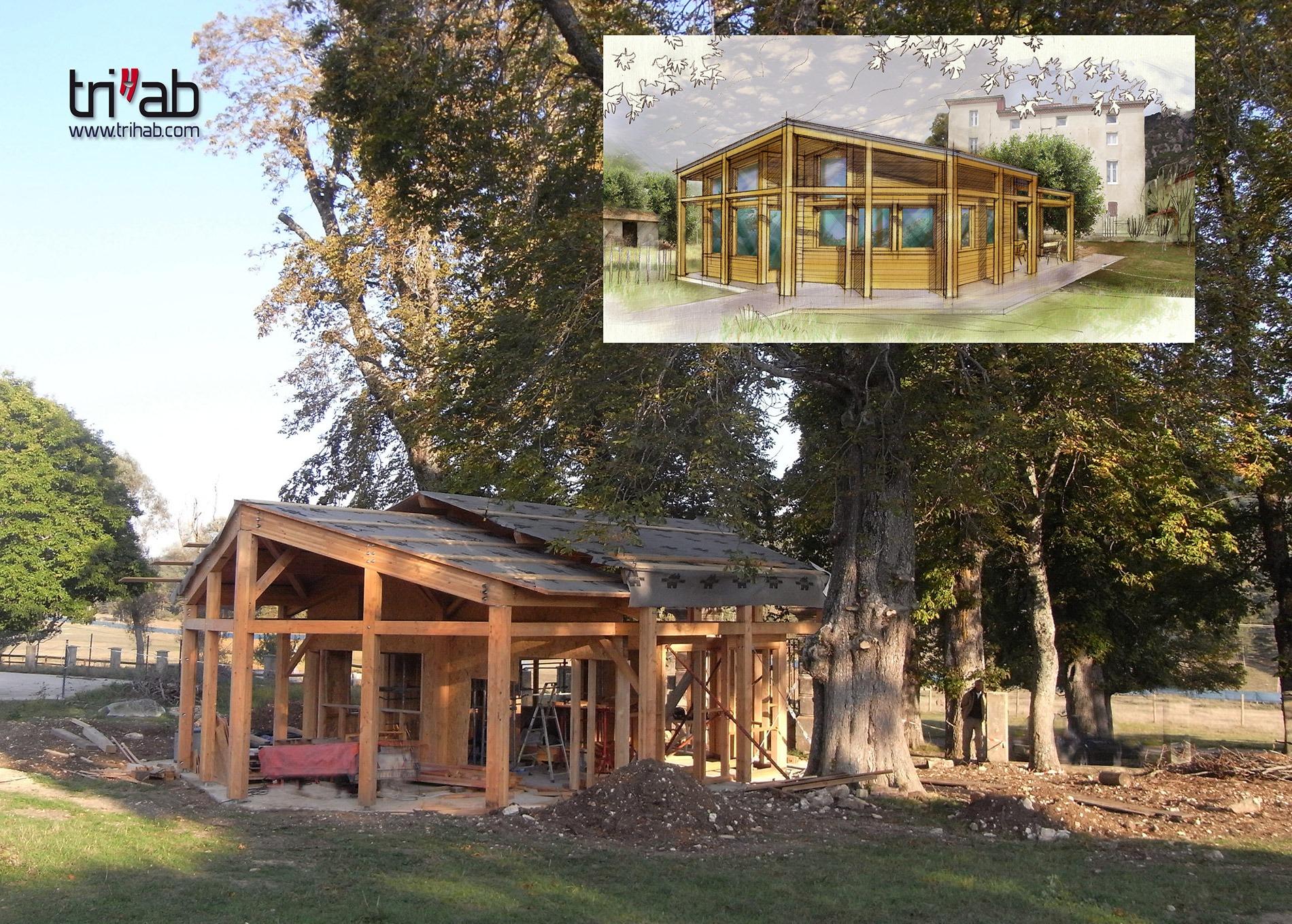 bâtiment d'accueil conception et réalisation
