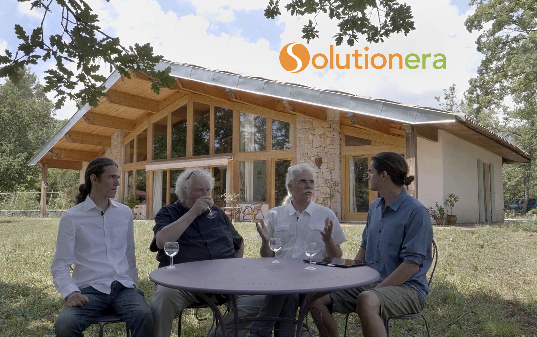 Tournage Solution ERA avec Francis Gendron et Goulven Bazire devant la maison de Pierre Pralus
